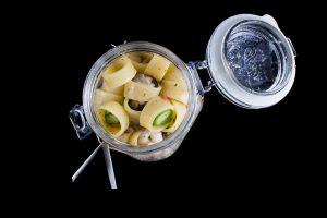 Calamarata con frutti di mare ed asparagi